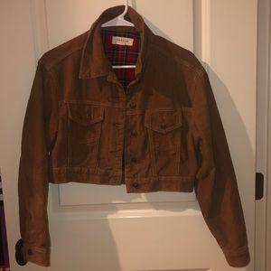 Cropped brown PacSun corduroy jacket